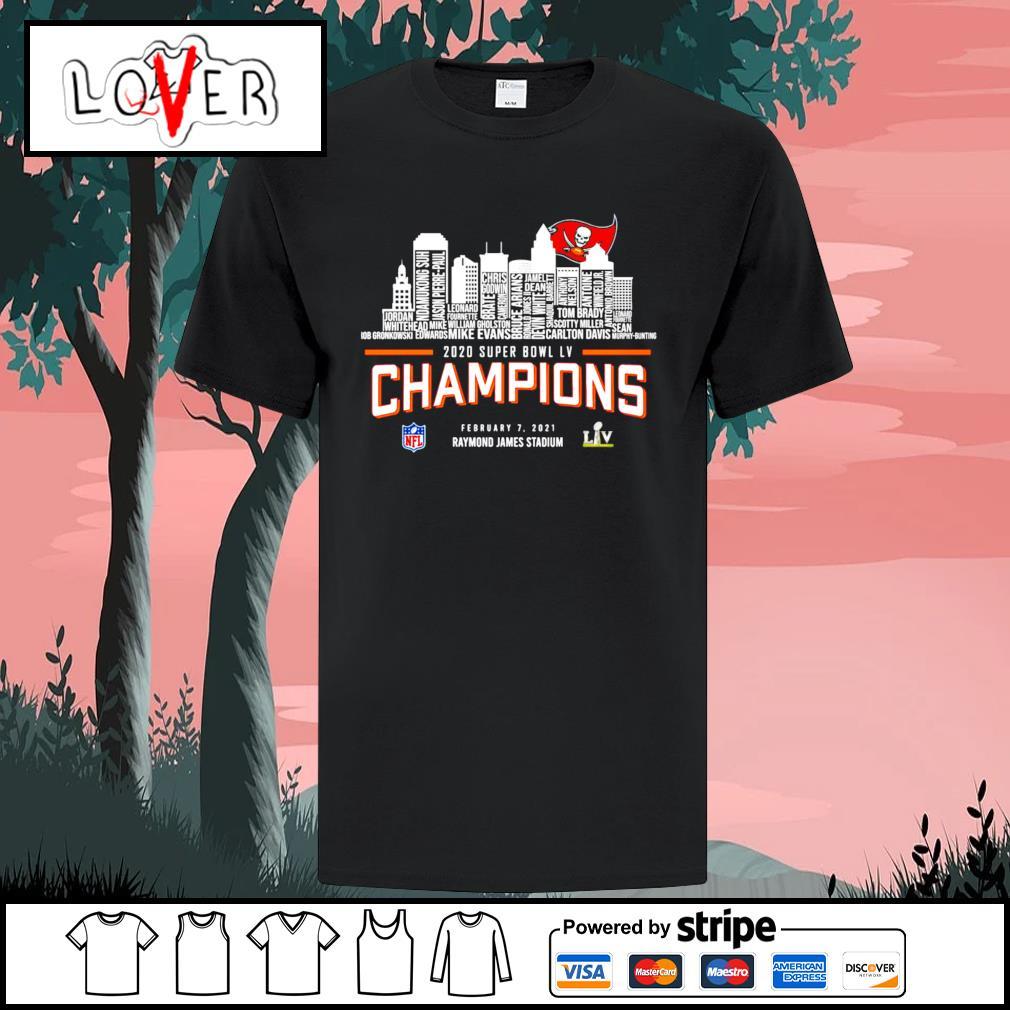 Tampa Bay Buccaneers 2020 super bowl LV champions Raymond James Stadium shirt