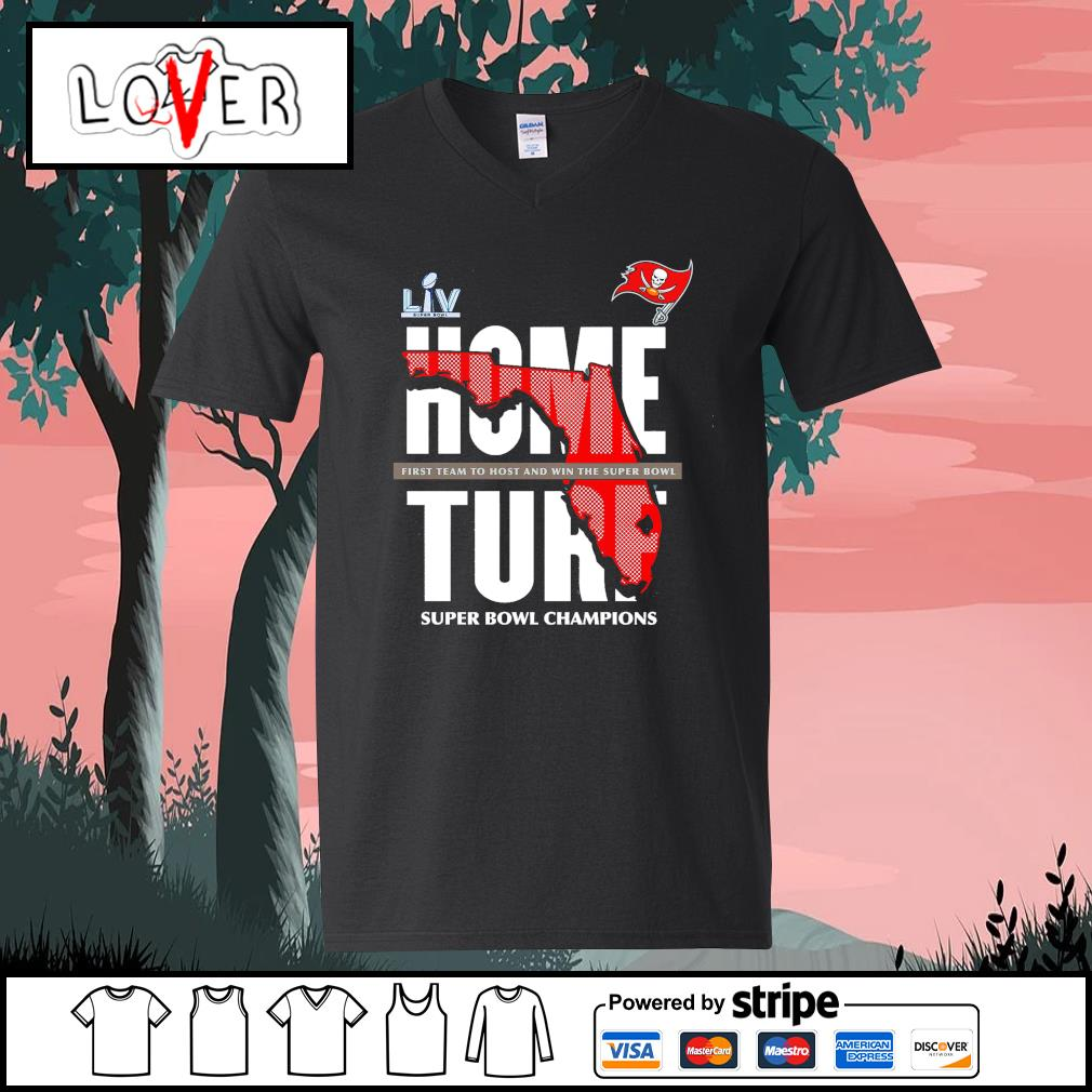 Tampa Bay Buccaneers home turf super bowl champions s V-neck-T-shirt