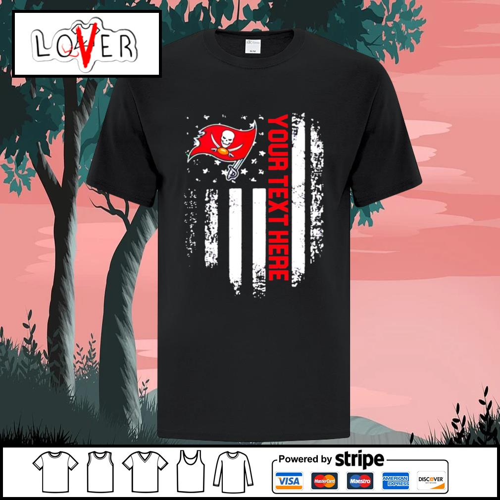 Tampa Bay Buccaneers your text here American flag shirt