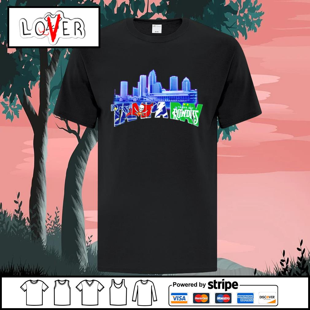 Tampa Bay Lightning Tampa Bay Buccaneers Tampa Bay Rays and Tampa Bay Rowdies shirt