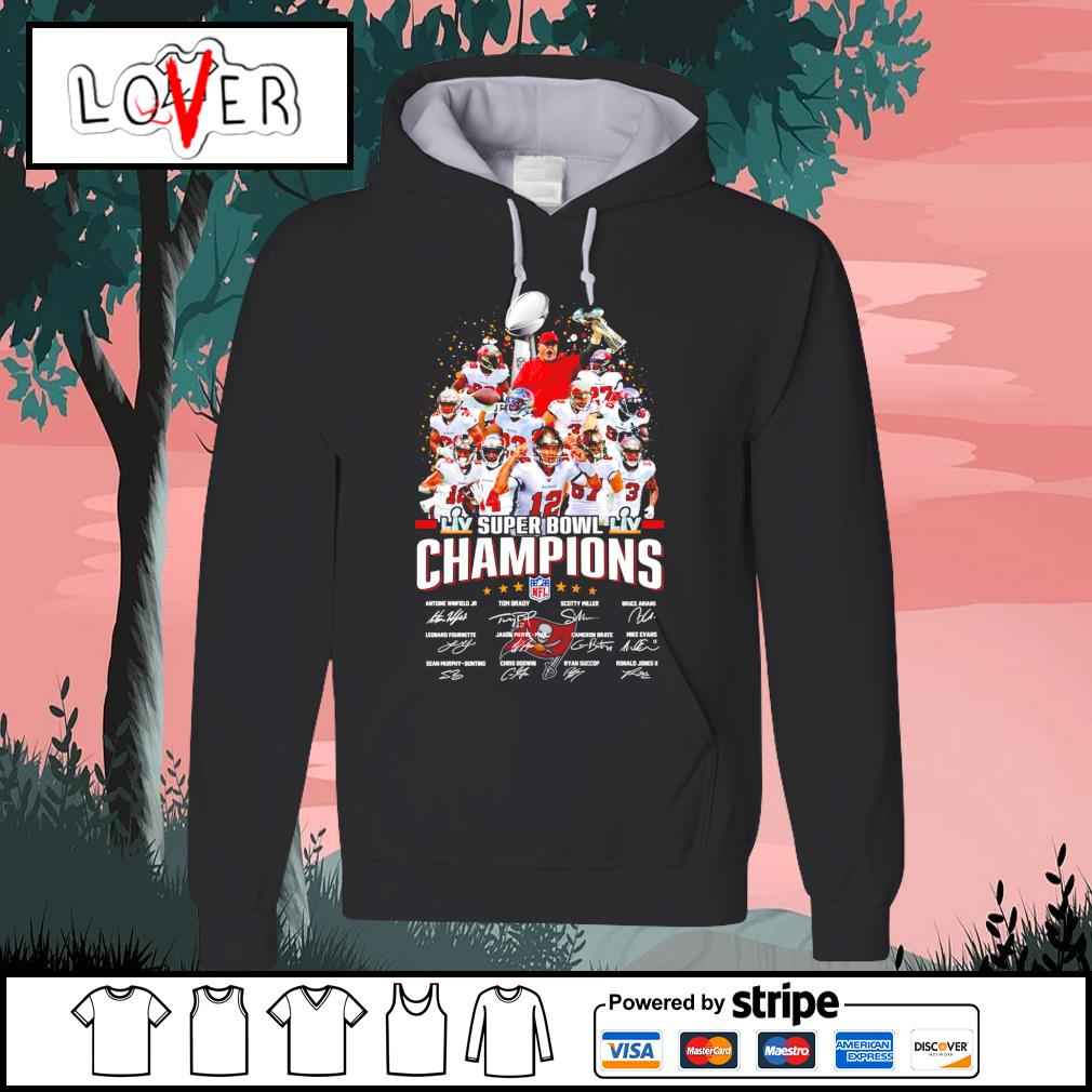 Tampa Bay team super bowl champions NFL signatures s Hoodie