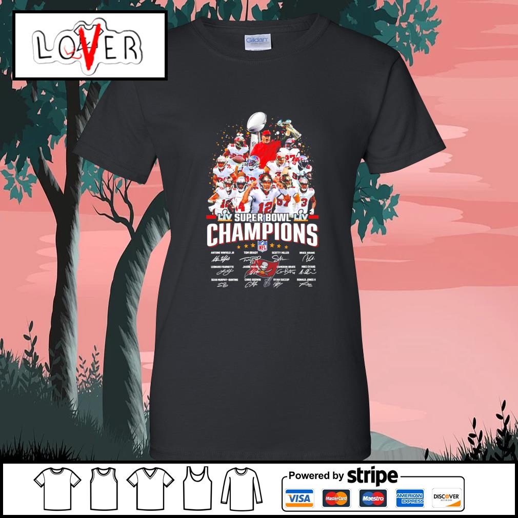 Tampa Bay team super bowl champions NFL signatures s Ladies-Tee
