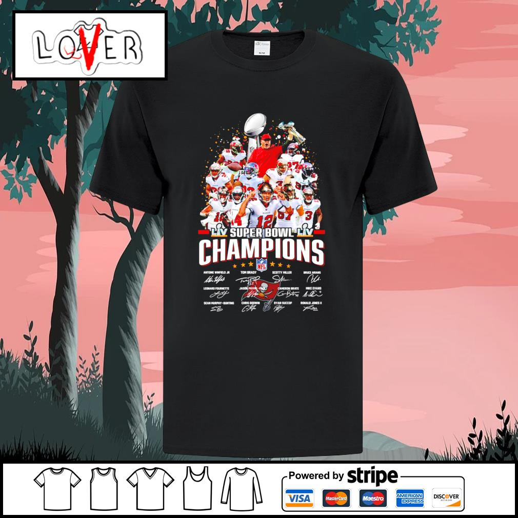 Tampa Bay team super bowl champions NFL signatures shirt