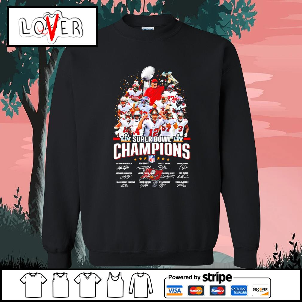 Tampa Bay team super bowl champions NFL signatures s Sweater