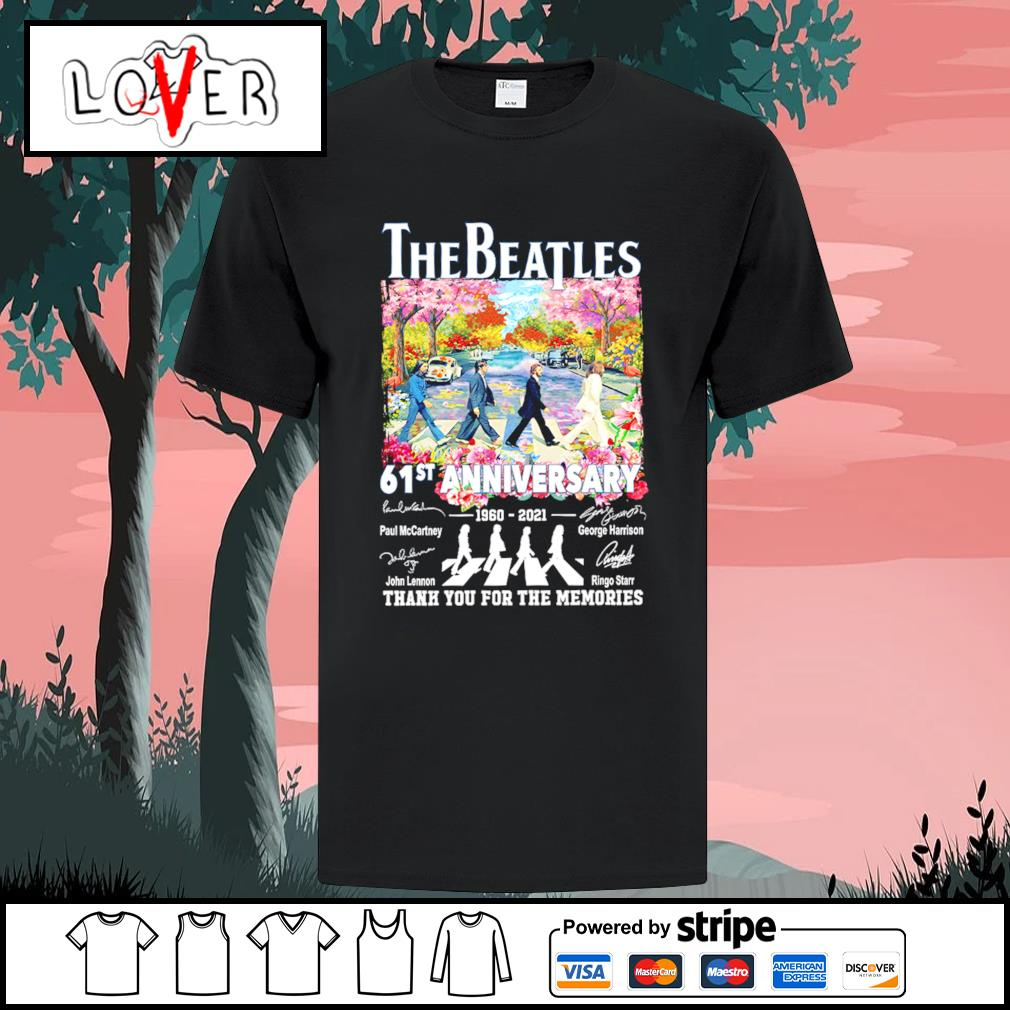 The Beatles abbey road 61st anniversary 1960 2021 signatures shirt
