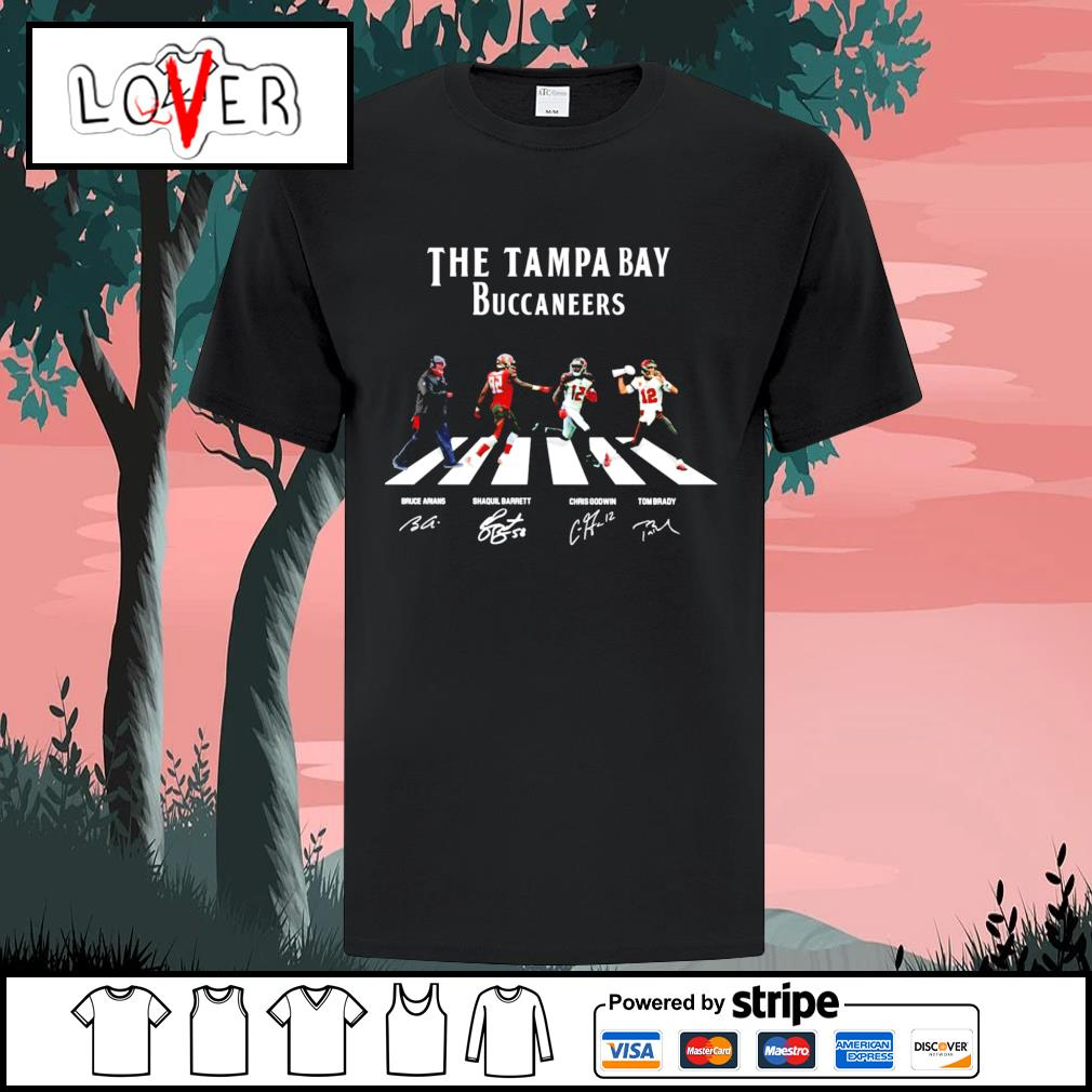The Tampa Bay Buccaneers abbey road signatures shirt