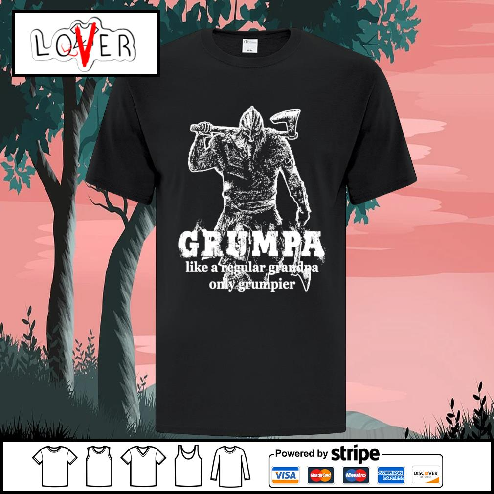 Viking Grumpa like a regular grandpa only grumpier T-shirt