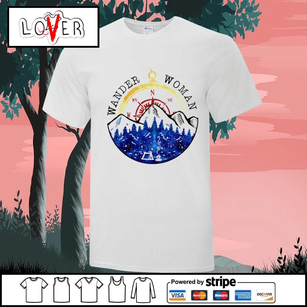 Wander woman camping shirt