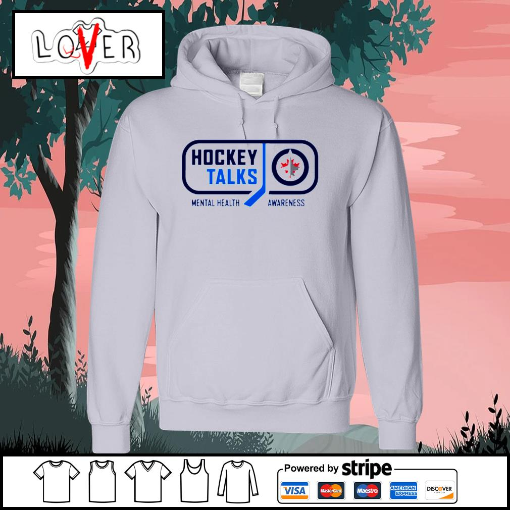 Winnipeg Jets Hockey Talks mental health awareness s Hoodie